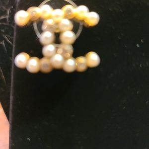 CHANEL Jewelry - Chanel gold tone and pearl CC logo studs